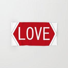 Love stop signal Hand & Bath Towel