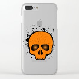 SCARY HALLOWEEN SKULL HEAD Clear iPhone Case