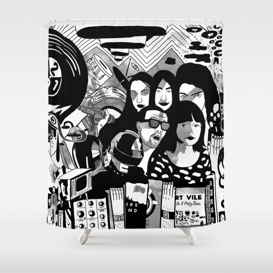 Sound & Vision: 2013 in Music by Steven Fiche Shower Curtain