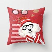 waldo Throw Pillows featuring Wheres Waldo by grapeloverarts