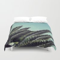 palms Duvet Covers featuring Palms by RichCaspian