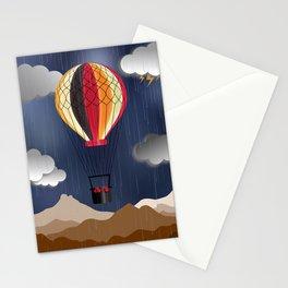 Balloon Aeronautics Rain Stationery Cards