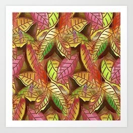 Seasonal Fall Leaves Art Print