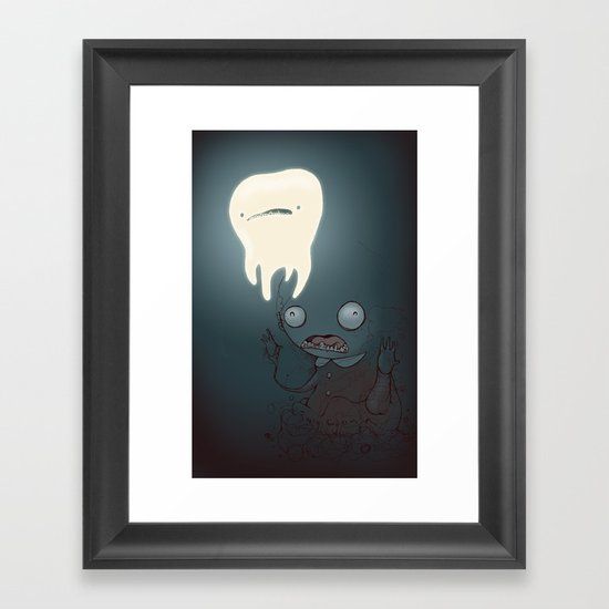 A powerful tooth Framed Art Print