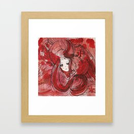 bloody love Framed Art Print