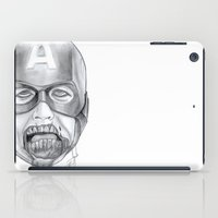 avenger iPad Cases featuring Zombie Avenger by THINGS I DOODLE
