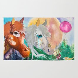 You and me - Horses - Animal - by LiliFlore Rug