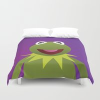muppets Duvet Covers featuring Kermit - Muppets Collection by Bryan Vogel