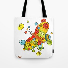 Pschedelic Seizure Butterfly (B) Tote Bag