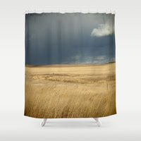 wind Shower Curtains featuring Wind by Western Arrow