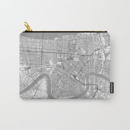 New Orleans Map Line Carry-All Pouch