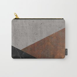 Concrete, rusted iron, marble abstract Carry-All Pouch