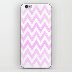 Pink Textured Chevron Pattern iPhone & iPod Skin
