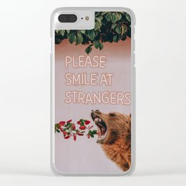 Please smile at strangers Clear iPhone Case