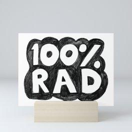100 % RAD - Bubble Mini Art Print