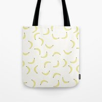 banana Tote Bags featuring Banana by Malin Erixon