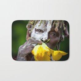 Suri woman with flower Bath Mat