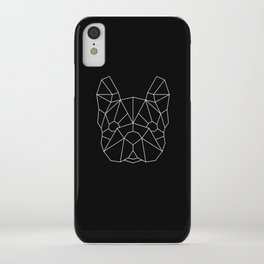 Geo Frenchie - Black and White iPhone Case