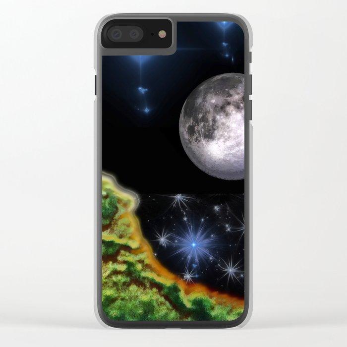 Cracked Earth Clear iPhone Case