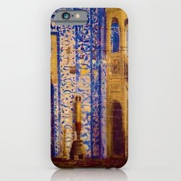 Islamic Masterpiece 'Interior of the Mosque' by Jéan Leon Gerome iPhone Case