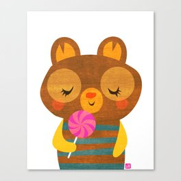 Lolli Bear Canvas Print