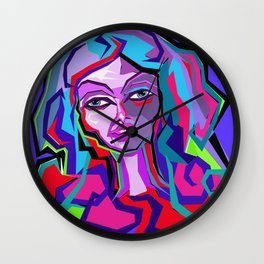 Color Girl Wall Clock