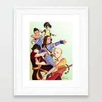 the last airbender Framed Art Prints featuring avatar: the last airbender by Anyeka