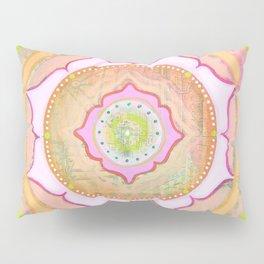 Pink Lotus Mandala Pillow Sham