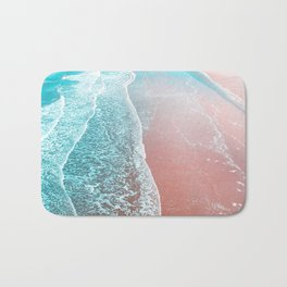 Sea Blue + Rose Gold Bath Mat