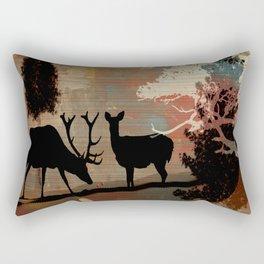 Woodland Abstract Rectangular Pillow