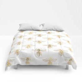 Gold Bee Pattern Comforters