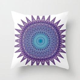Colourful Mandala #1 Throw Pillow