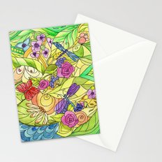 Stained Glass Garden Stationery Cards