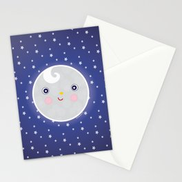 Happy Moon Man Stationery Cards