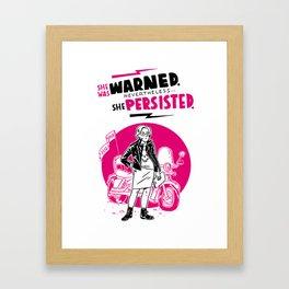 She Persisted Framed Art Print
