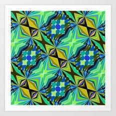 Colorful geometric abstract 14 Art Print