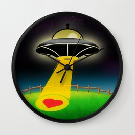 Love Abduction Wall Clock