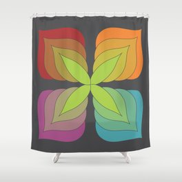 colorful cross flower gray a602 Shower Curtain