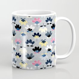 Textured Fan Flowers - Cool Colors Coffee Mug