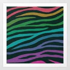 wildlife dreamcoat - zebra 2 Art Print
