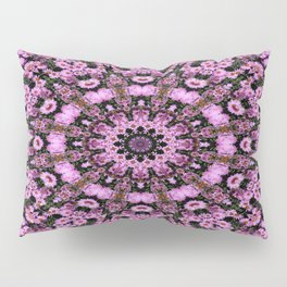 Kaleidoscope of purple flowers Pillow Sham