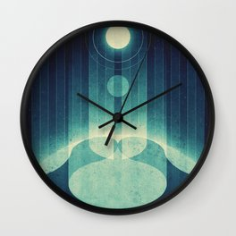 Earth - Aurora Borealis Wall Clock