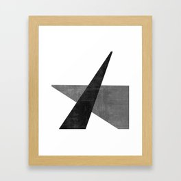Ambitious No. 2 | Abstract in Blacks + Grays Framed Art Print