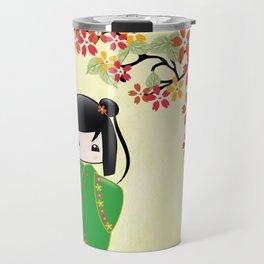 Sakura Kokeshi Doll Travel Mug