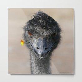 Happy Emu Metal Print