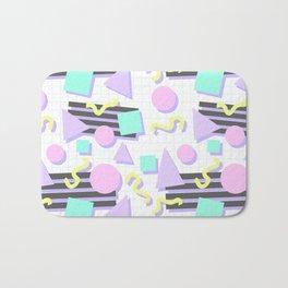 Pastel Retro 80s/90s Geometric Pattern Bath Mat