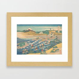 Fuji Seen from Kanaya on the Tōkaidō, Series Thirty-six Views of Mount Fuji by Katsushika Hokusai Framed Art Print