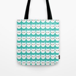 Coy White Kitty Cats Tote Bag