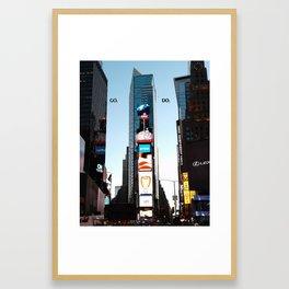 """New York City Inspirational """"Go Do"""" Framed Art Print"""