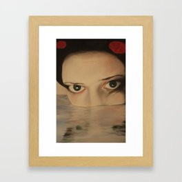SELF PORTRAIT IN GEISHA Framed Art Print